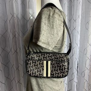 Small Tommy Hilfiger Purse Bag Black and Gray